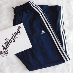 Adidas Medium Navy Blue and White Sweatpants